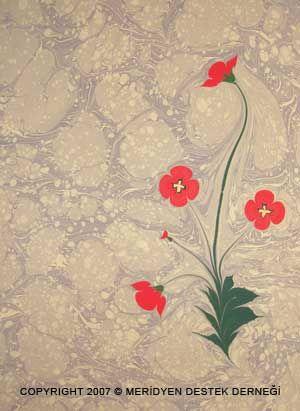 Ebru   poppy